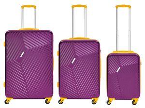 Packenger Reisekoffer 3er Koffer-Set Reisetrolley