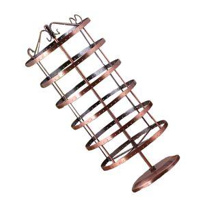 Ohrringhalter mit 6 Etagen und 288 Löchern, drehbar Schmuckständer Schmuckhalter Ohrringständer Kettenständer aus Legierung, 53x20cm