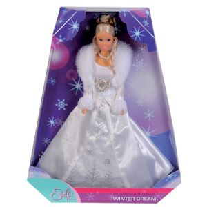 Steffi Love Wintertraum, Puppe H 29 cm in weißem Prinzessinnenkleid