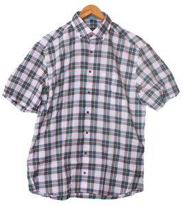 ETERNA Karo-Hemd buntes Herren Button-Down-Hemd Weiß/Bunt, Größe:43