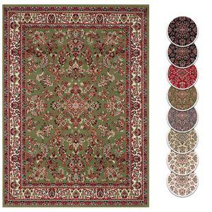 Teppich Boss Design Kurzflor Orient Teppich Zabul orientalisch Perser Look, Farbe:Grün, Größe:140 cm