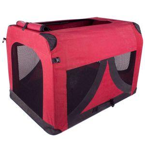 bFaltbare Tier Transportbox Hundebox Transport Box für Hunde und Katzen S