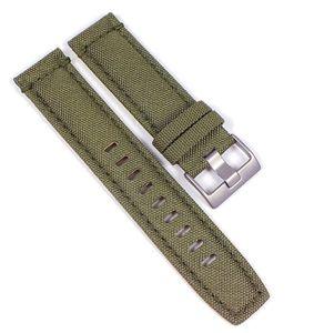 Timex Uhrenarmband Textil Grün 22mm T2N726 T49822 T2N725 T48822 T49823