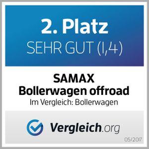 SAMAX Faltbarer Bollerwagen Offroad - Schwarz / Blau