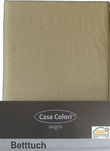 klassisches Haustuch, Betttuch, Bettlaken, OHNE Spanngummi, 150x250 cm, Farbe: natur-beige, 100% Baumwolle