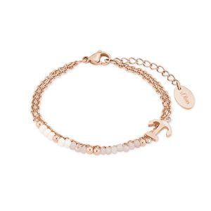s.Oliver 2018350 Damen Armband Anker Edelstahl Rose 20 cm