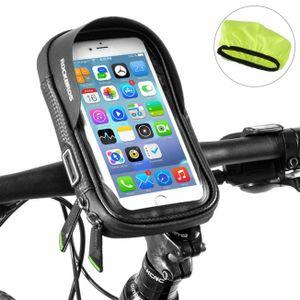 ROCKBROS Rahmentasche Fahrrad Lenkertasche Handyhalterung 6,0 HandyMit Regenschutz, 360 Grad Rotation