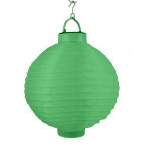 LED Lampion  (Grün) Ø 20 cm - Party- und Gartenlaterne -