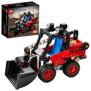 LEGO 42116 Technic Kompaktlader, Bagger - Hot Rod, 2-in-1 Set, Kinderspielzeug, Baufahrzeug, Spielzeugauto, Geschenk für Kinder ab 7 Jahre