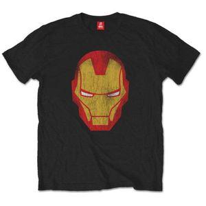 Avengers Iron Man Distressed  Blk TS: Large