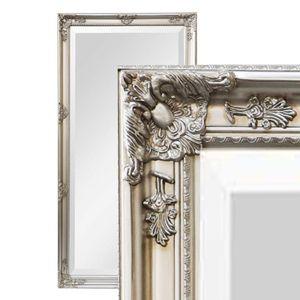 XXL Wandspiegel Spiegel silber 200 x 100 cm Antik-Stil barock m. Facettenschliff Ankleidespiegel Ganzkörperspiegel