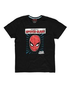 Marvel - Starring Spider-Man - Men's T-shirt - 2XL - MARVEL TS110244MVL-2XL - (T-shirts and Tops / Short Sleeved T-shirts)