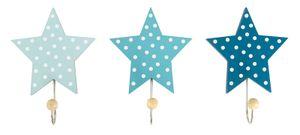JaBaDaBaDo Wandhaken Sterne Blau (3er-Set)