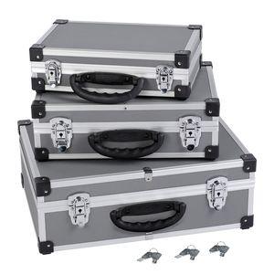 Alukoffer Aluminium-Koffer 3-in-1 Allround Werkzeugkoffer-Set stapelbar VARO