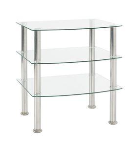 Haku Beistelltisch - Edelstahl/Klarglas - Maße: 54 cm x 45 cm x 61 cm; 15209