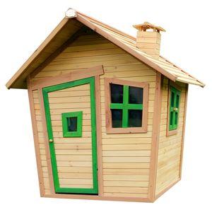 AXI Spielhaus Alice ausHolz   Outdoor Kinderspielhaus für den Garten in Braun & Grün   Gartenhaus für Kinder mit Fenstern