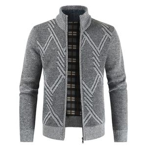 Winter Herren Casual Fashion Cardigan Sweater Jacke Größe:M,Farbe:Grau