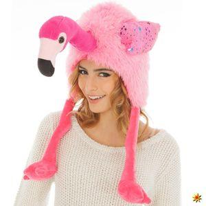 Tier Mütze Flamingo