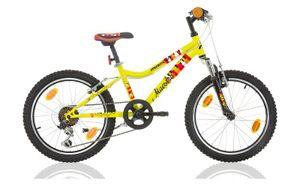 20 Zoll Kinderfahrrad Kinder Jungen Mädchen MTB Mountainbike Fahrrad Federgabel Gabelfederung Rad Bike Shimano 6 Gang MAESTRO GELB