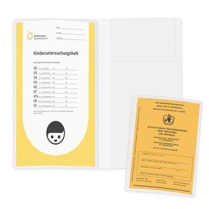 kwmobile U-Heft Impfpass Hülle 2-teilig - Schutzhülle für deutsches Untersuchungsheft und Impfpass (2015) - Impfausweis Cover transparent