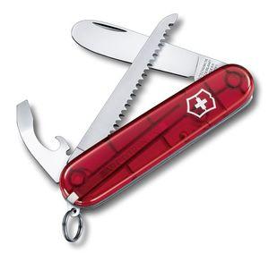 Victorinox Kindermesser Rot mit Zubehör in Geschenkbox Mittelrot