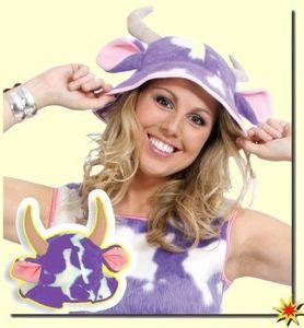 Kuhhut Leni lila-weiß, Kostüm Kuh