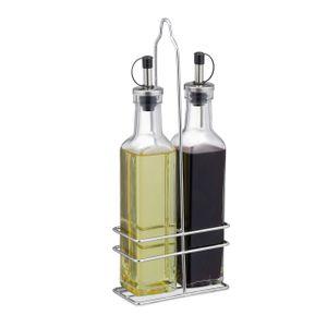 relaxdays Essig und Öl Spender aus Glas