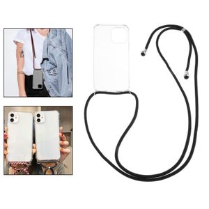 Mode cross body lanyard clear case cover für iphone 12 pro max xs 7 5 se 160cm Seil Für iPhone 12 Mini 5.4 Handyhülle Abdeckung
