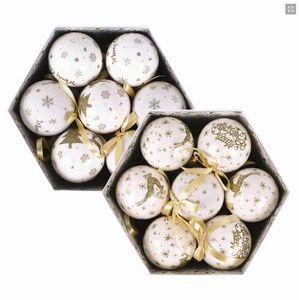 Christbaumkugeln in einer weihnachtlichen Geschenkbox - 14 Kugeln - Preis pro Box