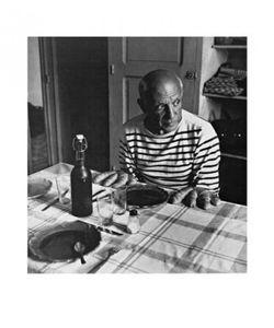 Robert Doisneau Poster Kunstdruck - Die Brötchen Von Picasso (60 x 50 cm)