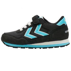 Hummel Reflex JR Kinderschuhe Sneaker schwarz/blau 210071-2001, Schuhgröße:28 EU