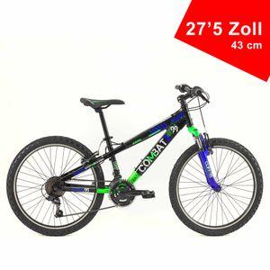 BRERA Combat 27,5 Zoll 21 Gänge 43 cm Rahmengröße Sportfahrrad Sportrad Damen Herren Unisex Mountainbike Fahrrad Grün