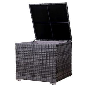 SVITA Kissenbox für Polyrattan Lounge Lugano / California in grau