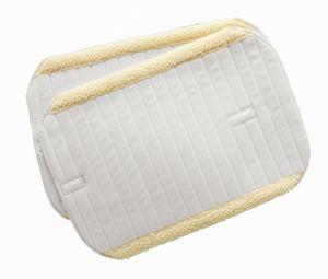 Bandagierunterlagen m. Kunstfellrand, 2er Set, weiß, 32x45 cm