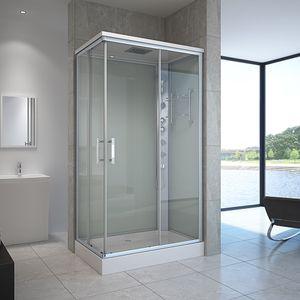 HOME DELUXE - Duschkabine VENUS XL 120x80 cm Dusche Duschtempel Regendusche Komplettdusche