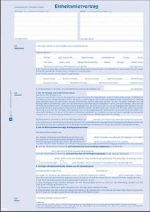 Zweckform Einheismietvertrag A4 mit Hausordnung 4-fach (1 Stück)