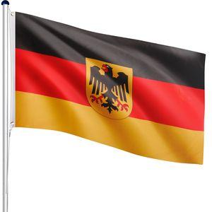 FLAGMASTER® Aluminium Fahnenmast Deutschland Adler 6,50m