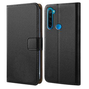 Handytasche für Xiaomi Redmi Note 8 Schutz Hülle mit Aufstellfunktion Handyhülle Klapp Tasche Etui mit Kartenfächer Flip Cover TPU innen Schale