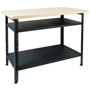 Werkbank Werktisch Arbeitstisch Werkstatttisch Montagewerkbank Packtisch Stahl 120 x 95 x 60 cm V2Aox