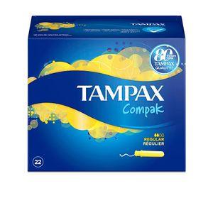 TAMPAX COMPAK tampón regular 22 uds