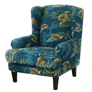 Elastische Ohrensessel Sofabezug Sesselbezug Farbe Polyester-Baumwolle (Grün)