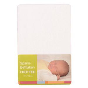 BABY-PLUS Spannbettlaken Frottee 70x140 cm, weiß