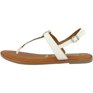 Tamaris Damen Sandaletten Weiß Damen