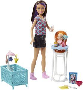 """Barbie """"Skipper Babysitters Inc."""" Puppen und Hochstuhl Spielset (brünett)"""