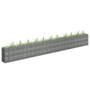 Gabionen-Hochbeet Garten-Hochbeet Hochbeet Verzinkter Stahl 450×30×60 cm