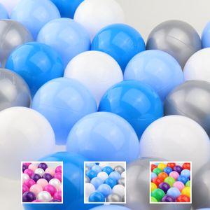 WELLGRO Bällebad - Bälle für Ballpool - 7cm Baby Spielbälle für Kinder - BPA frei - Hergestellt in der EU - Menge und Farbe wählbar, Farbe:Blau, Stückzahl:100 Stück
