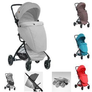 Lorelli Kinderwagen SPORT mit Korb, verstellbares Sonnendach, Fußsack, klappbar, Farbe:grau