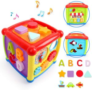 Spielzeug 1 Jahr 2 Jahren Junge Mädchen,Kleinkindspielzeug,Entdeckerwürfel mit Licht und Musik
