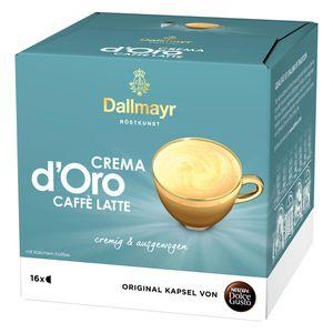 Nescafé Dolce Gusto Dallmayr Crema dOro Caffé Latte, Kaffeekapsel, Kaffee, 16 Kapseln