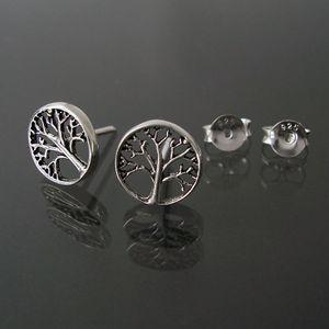 Ohrringe Silber 925 Niklarson Lebensbaum 9mm Ohrstecker 10210